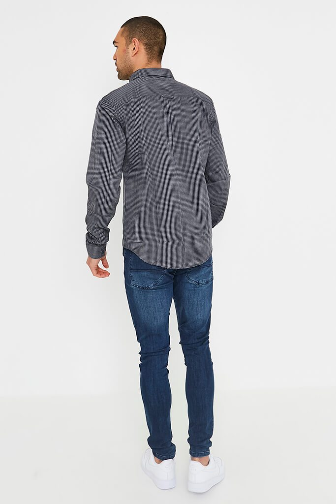 Dark Grey Men's Smith & Jones Raglan Shirt view 4