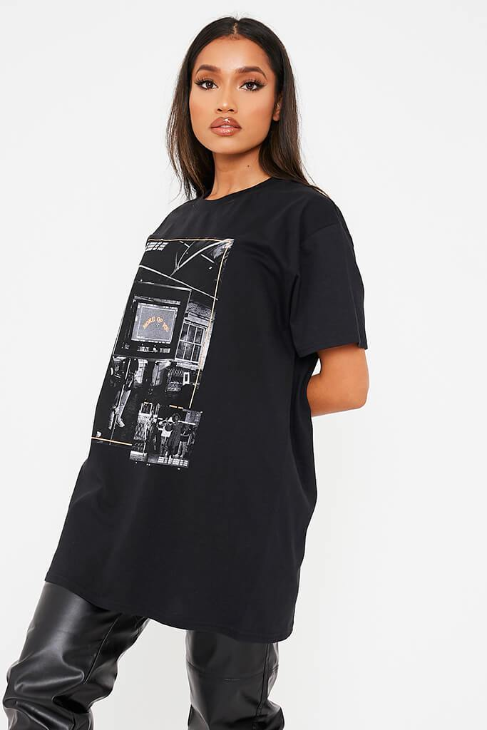 Black More Of You Bts Graphic Print Oversized T-Shirt view 2