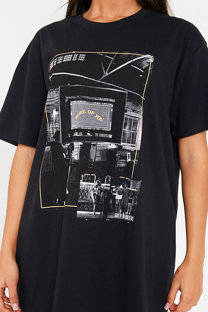 Black More Of You Bts Graphic Print Oversized T-Shirt view 5