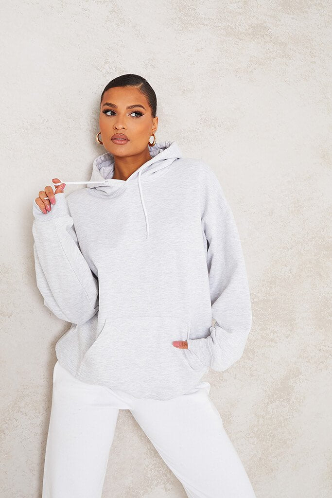 Ash Grey Ultimate Oversized Basic Hoodie view main view