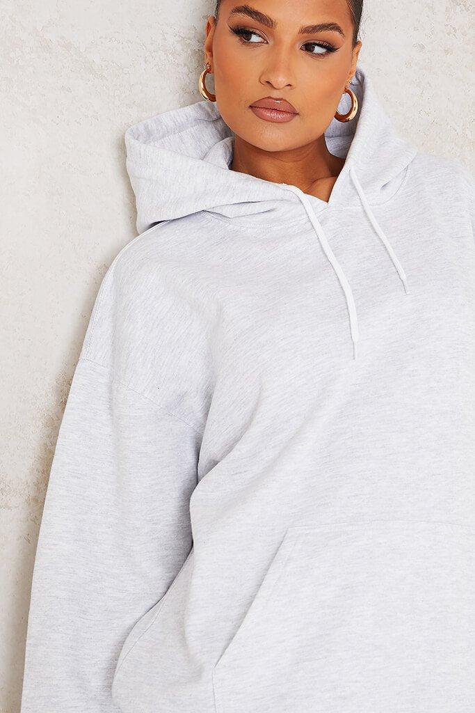Ash Grey Ultimate Oversized Basic Hoodie view 5
