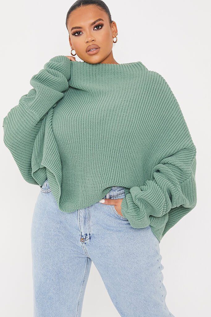 Sage Plus Slouchy Jumper view main view
