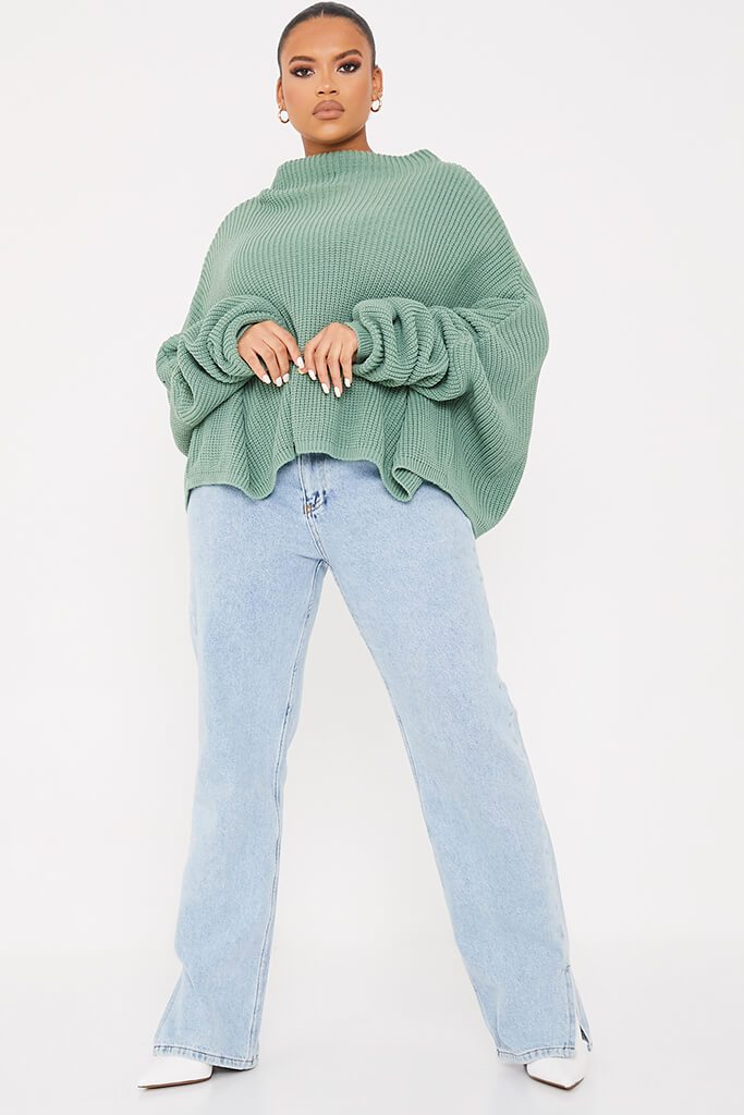 Sage Plus Slouchy Jumper view 2