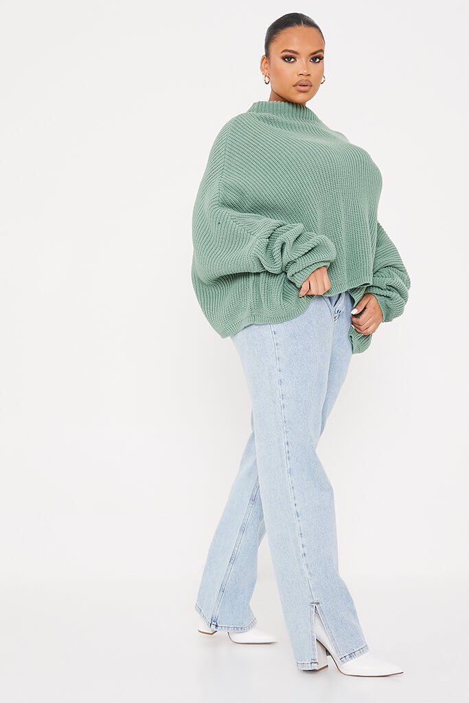 Sage Plus Slouchy Jumper view 3