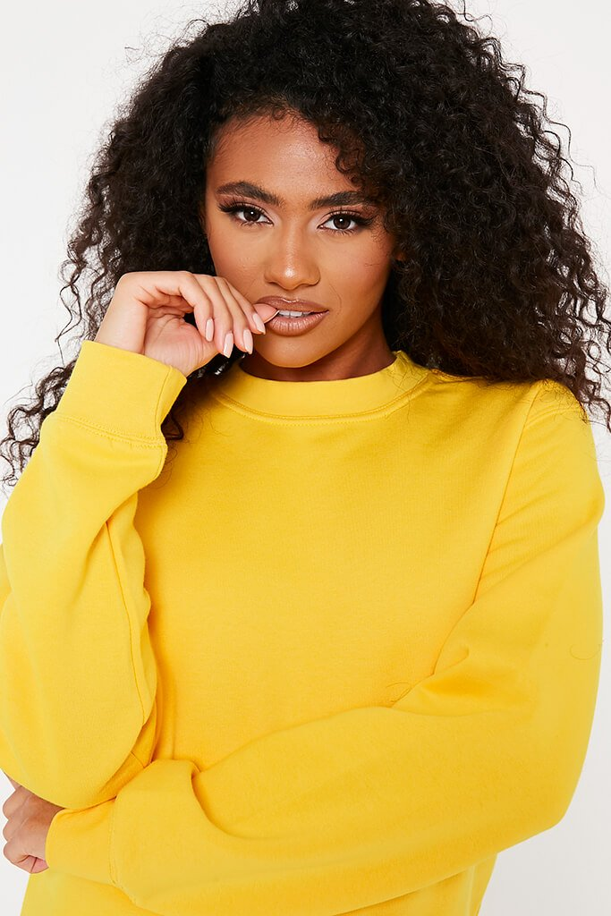 Gold Oversized Basic Sweatshirt view 5