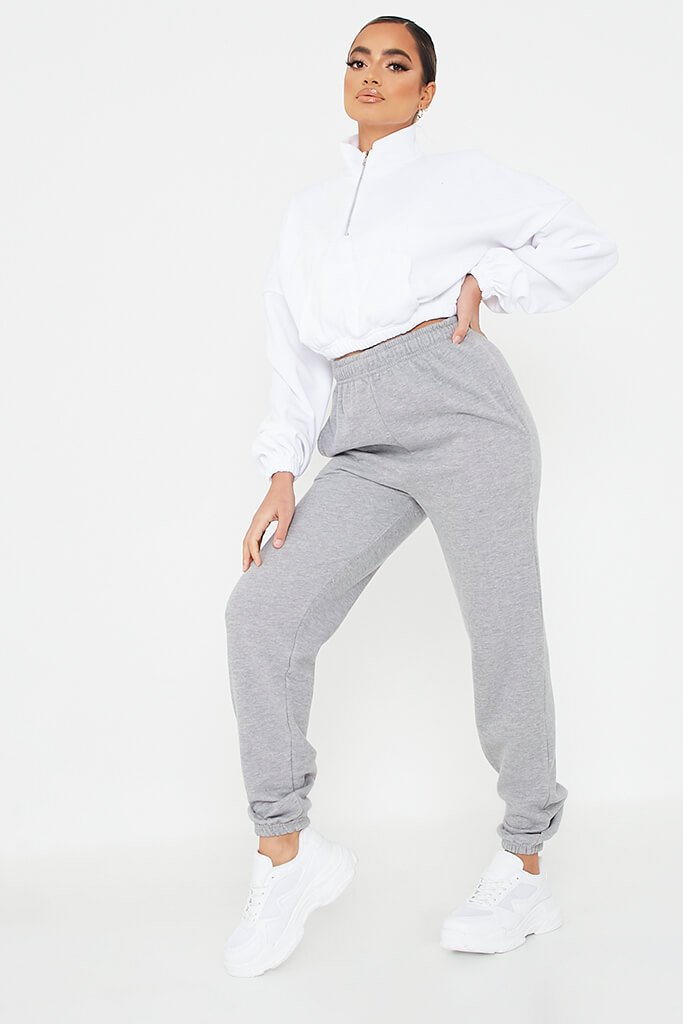 Grey Basic Joggers view main view