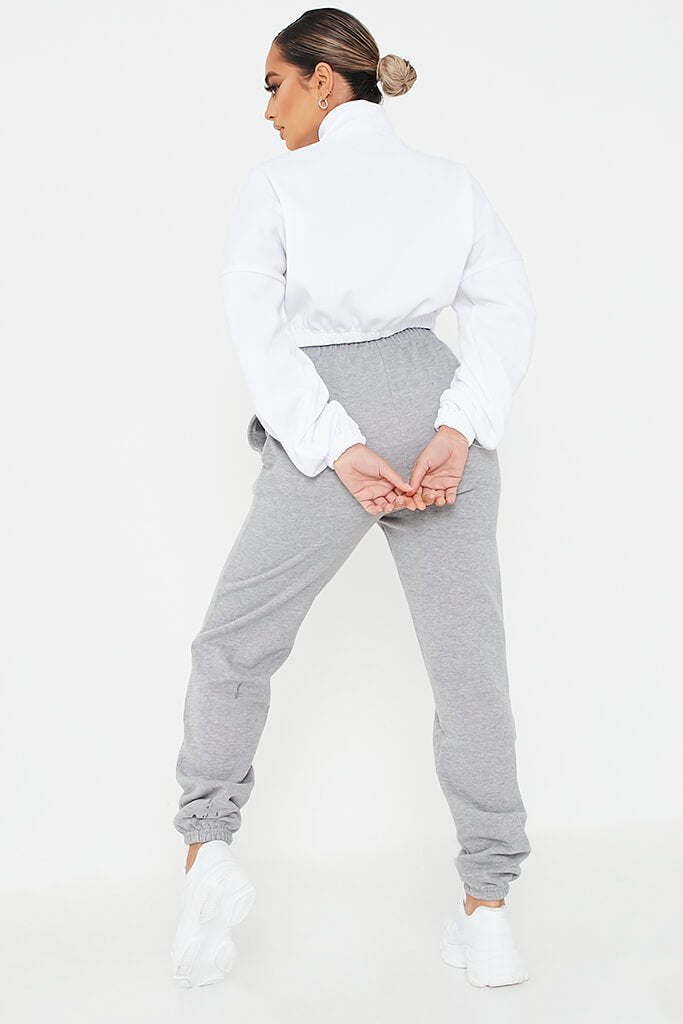 Grey Basic Joggers view 4