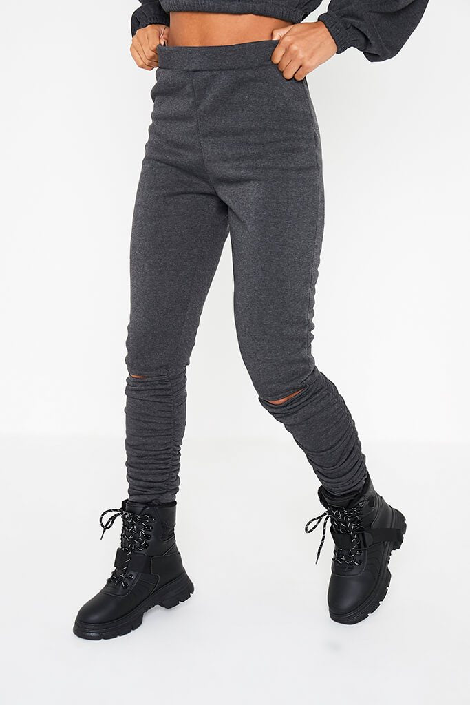 Charcoal Ruched Detail Jogger view 2