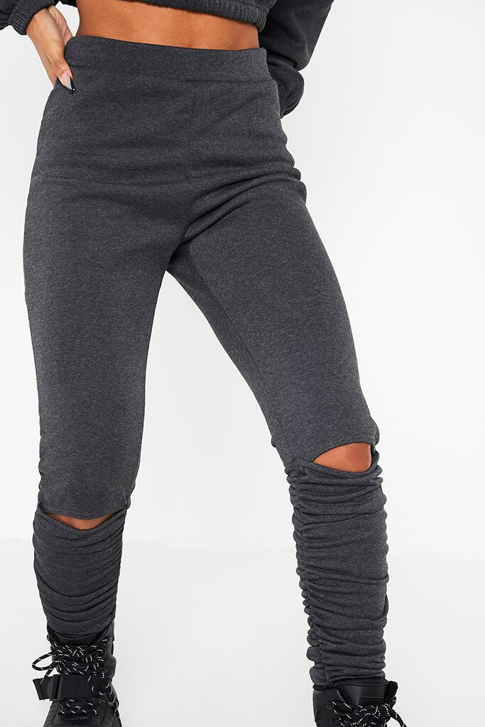 Charcoal Ruched Detail Jogger view 5