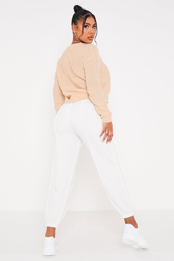 Stone Boxy Scoop Neck Jumper view 4