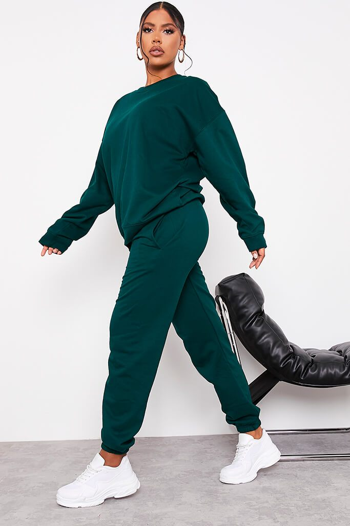 Bottle Green Ultimate Oversized Jogger view 3