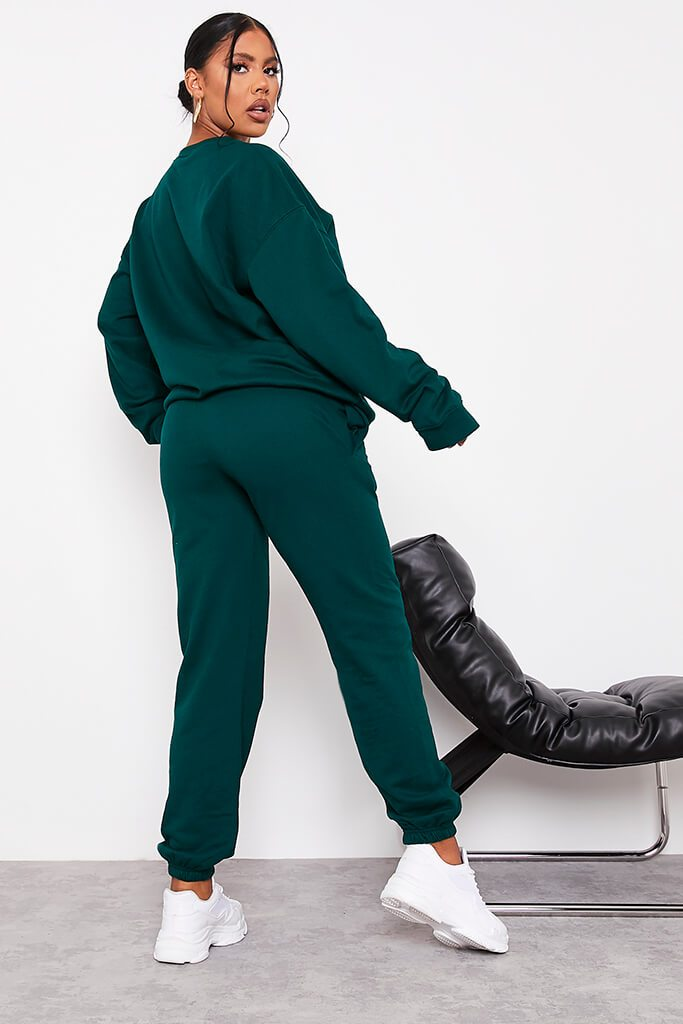 Bottle Green Ultimate Oversized Jogger view 4