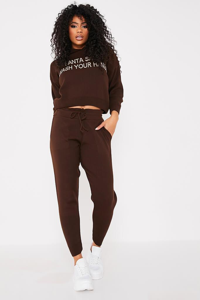 Chocolate Knitted Joggers