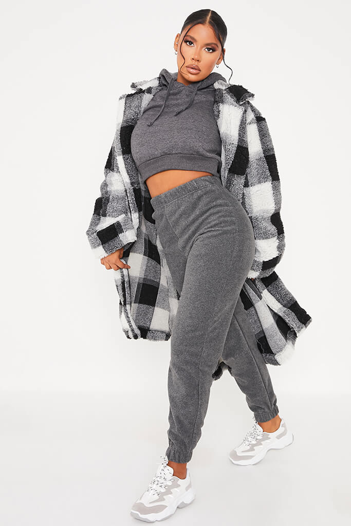 Charcoal Fleece Jogger view main view