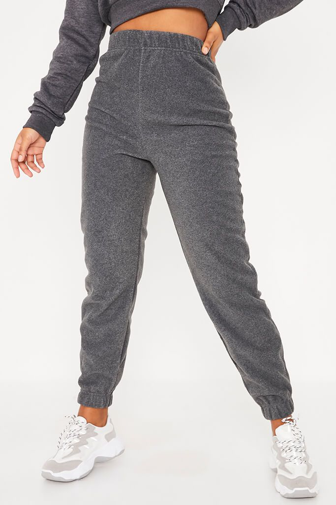 Charcoal Fleece Jogger view 2