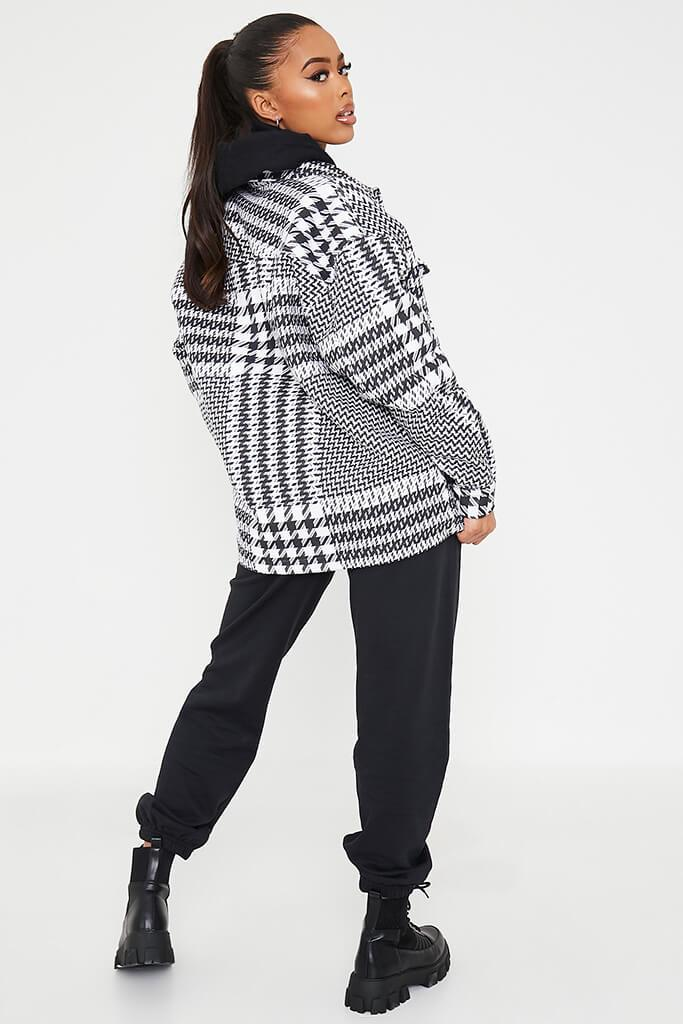 Black & White Dogstooth Checked Shacket view 4