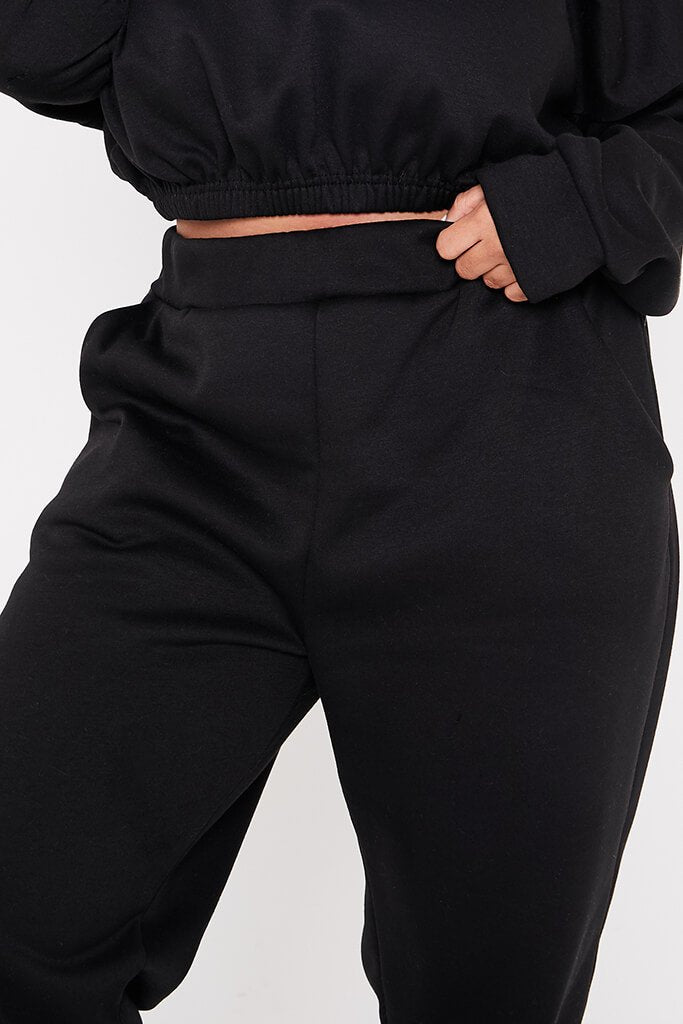 Black Plus Pocket Detail Joggers view 5