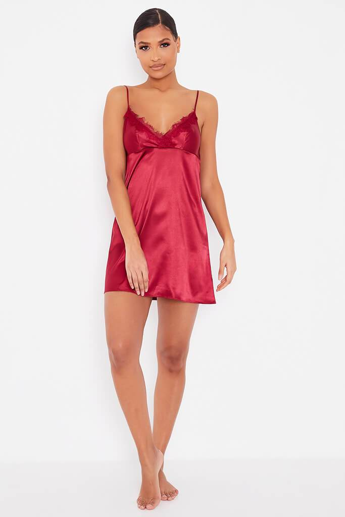 Red Satin And Lace Nightie view 2