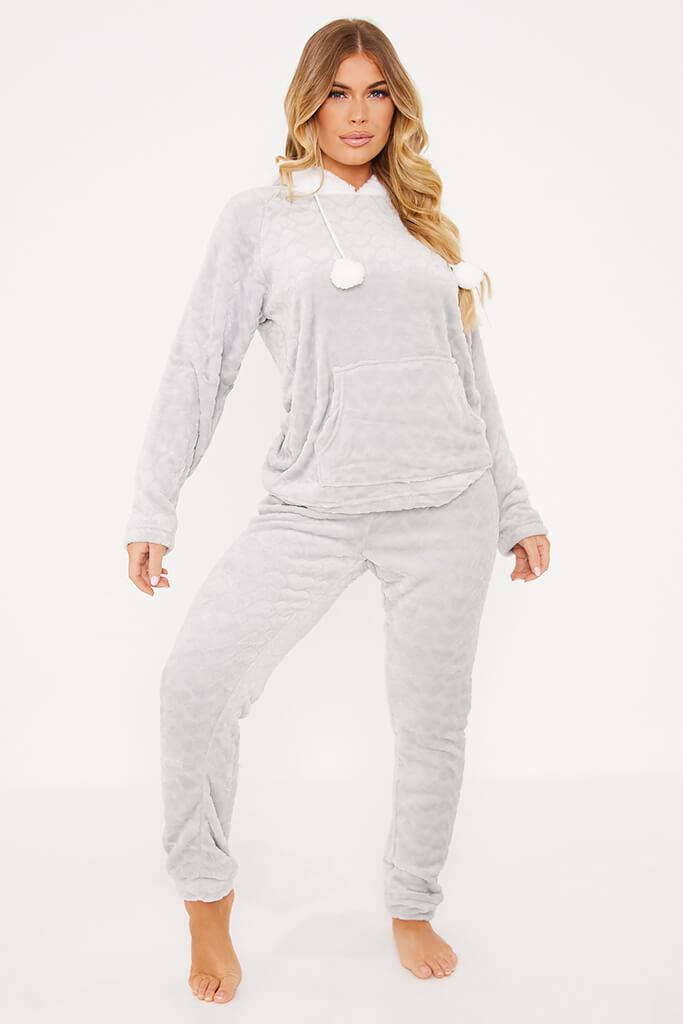 Grey Pom Pom Twosie Nightwear Set view 2