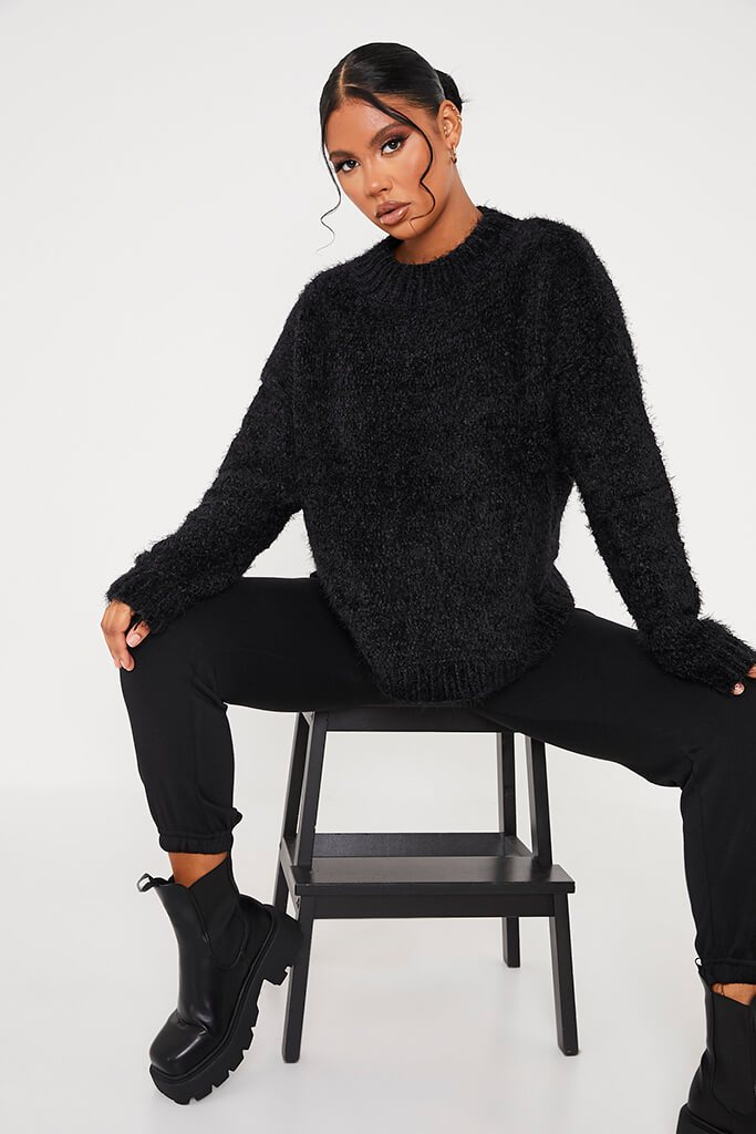 Black Chenille Jumper view 2