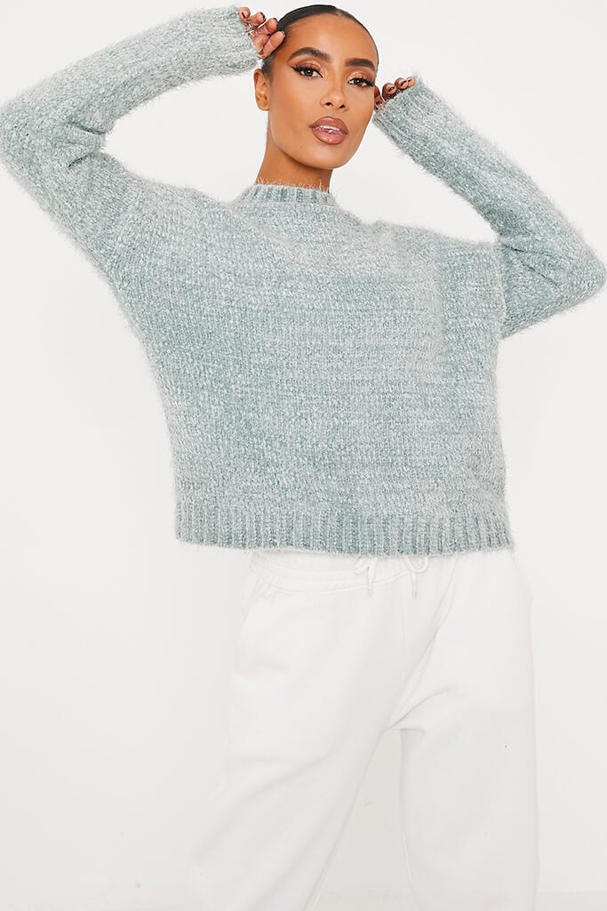 Green Chenille Jumper