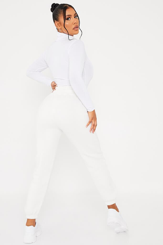 White Limited Edition High Neck Long Sleeve Bodysuit view 4