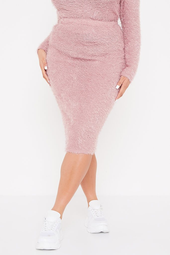 Pink Plus Eyelash Knit Midi Skirt view 2