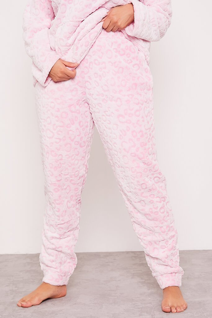 Pink Plus Leopard Print Twosie Nightwear Set view 2