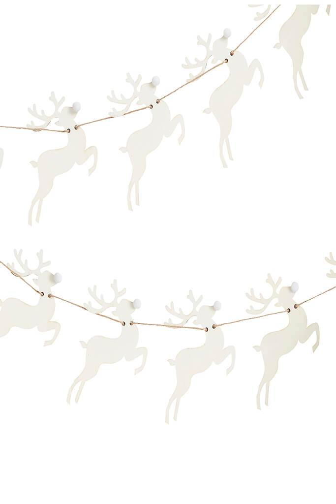 Brown Wooden Stag Bunting view 2