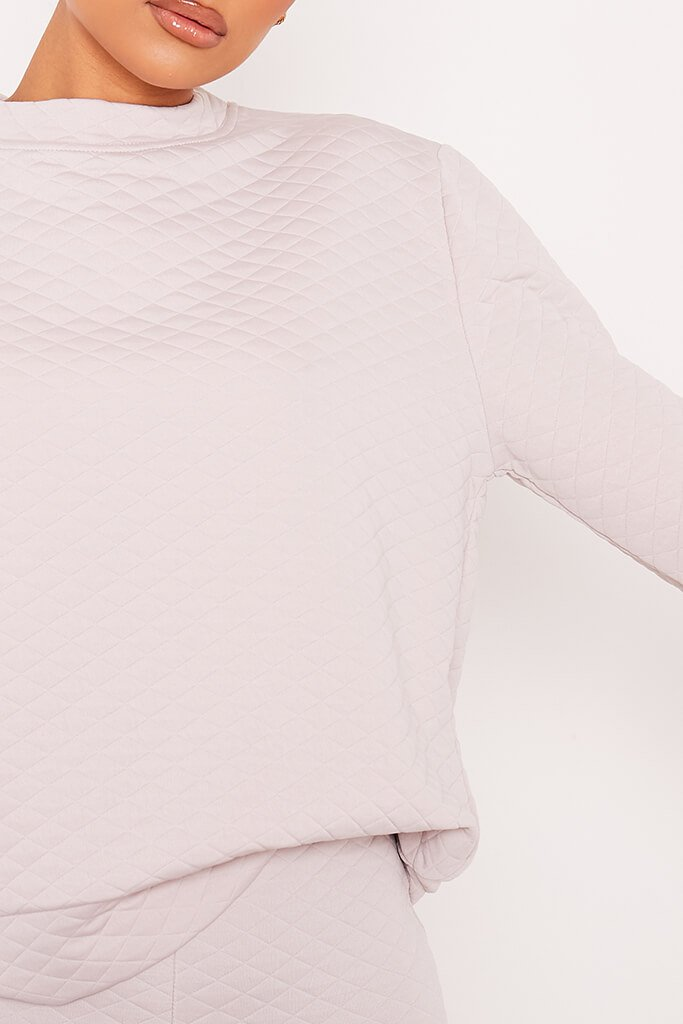 Mink Quilted Sweater view 5