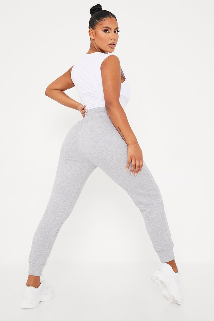 Grey Corseted Waist Joggers view 4