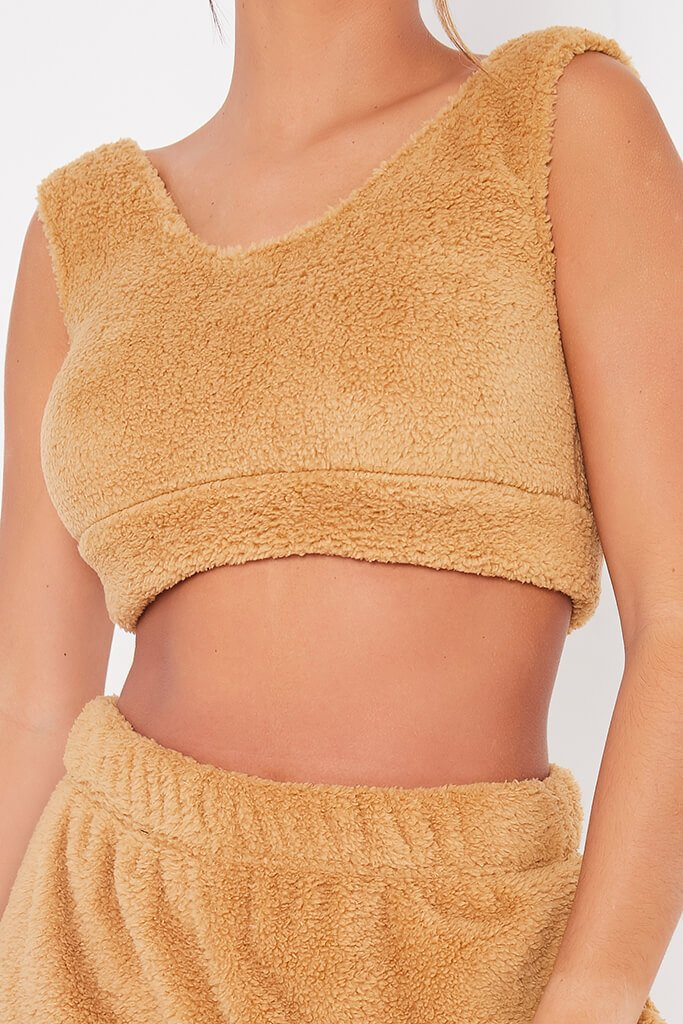 Stone Teddy Pyjama Crop Top view 5