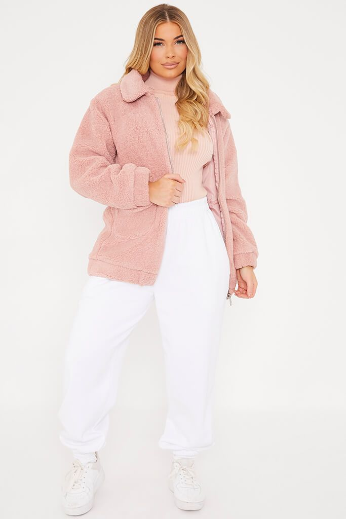Pink Faux Fur Jacket view 2