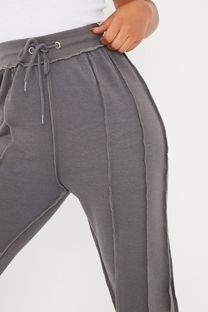 Charcoal Seam Detail Joggers view 5