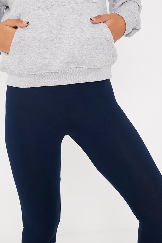 Navy High Waisted Leggings view 5