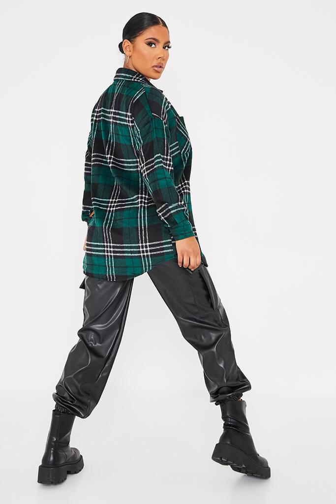 Green Oversized Check Shacket view 4