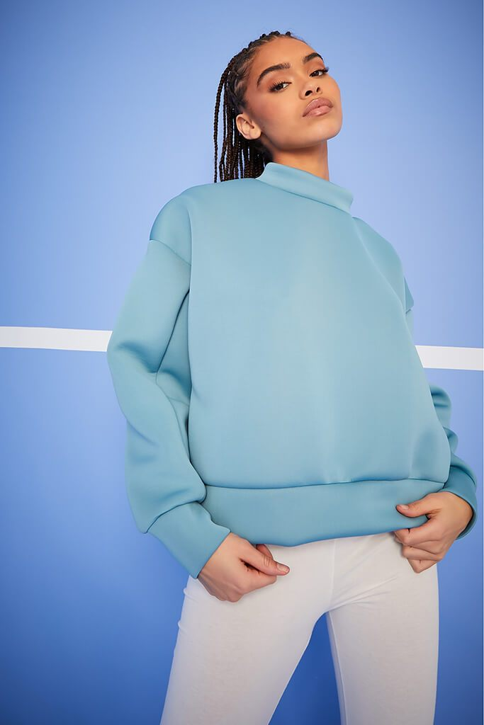 Blue Scuba Oversized Sweat-Shirt