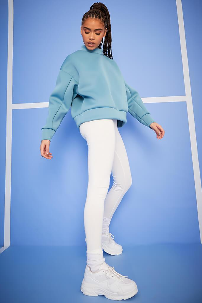Blue Scuba Oversized Sweat-Shirt view 3
