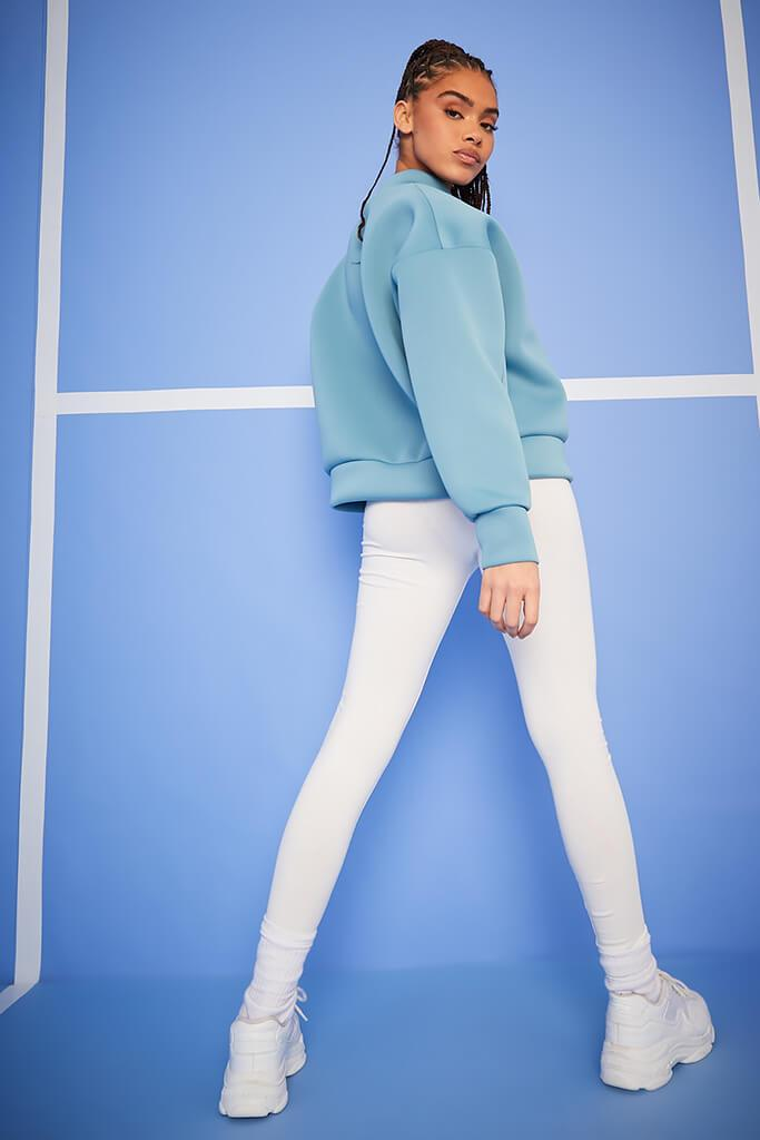 Blue Scuba Oversized Sweat-Shirt view 4