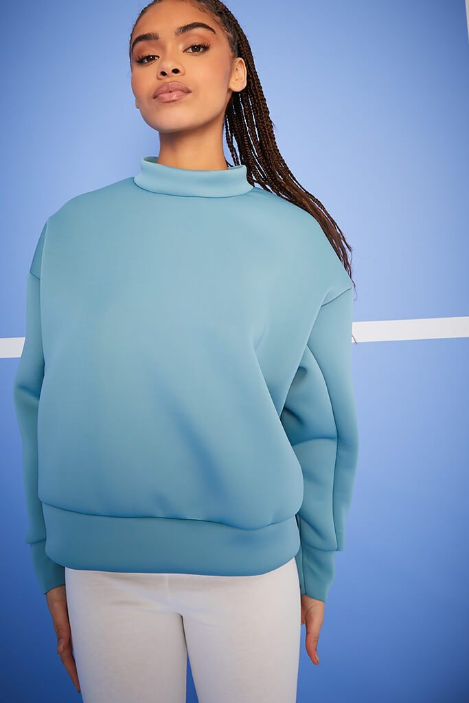 Blue Scuba Oversized Sweat-Shirt view 5