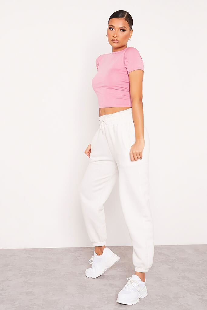 Rose Fitted Crop T-Shirt view 3