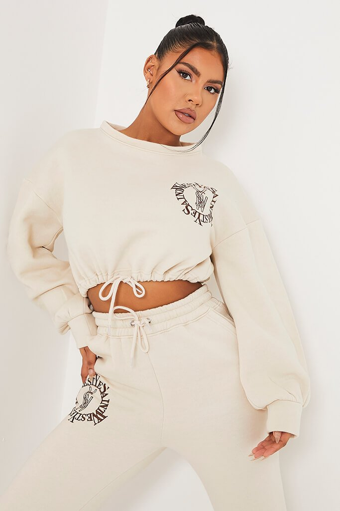 Stone Ye Saint West Cropped Embroided Sweater
