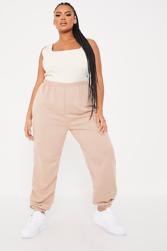 Stone Plus Size Basic Oversized Joggers view main view