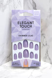 ELEGANT TOUCH SHIMMER LILAC FALSE NAIL SET
