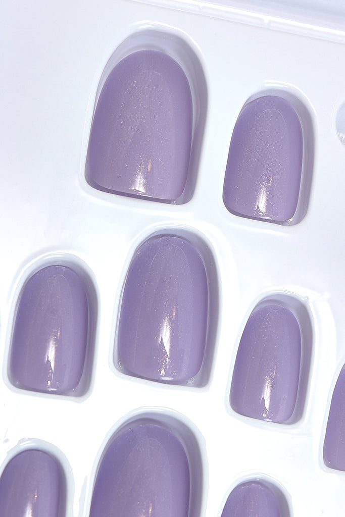 ELEGANT TOUCH SHIMMER LILAC FALSE NAIL SET view 3