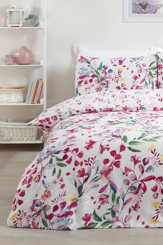 Multi King Watercolour Floral Hypoallergenic Duvet Set view main view