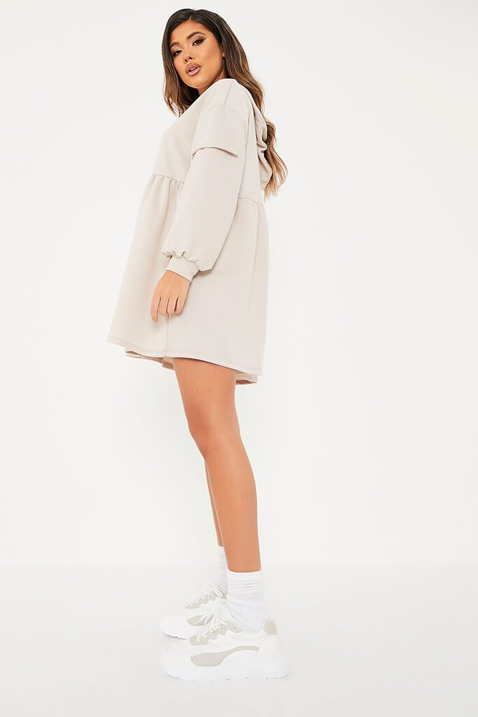 Stone Hooded Smock Sweater Dress view 3