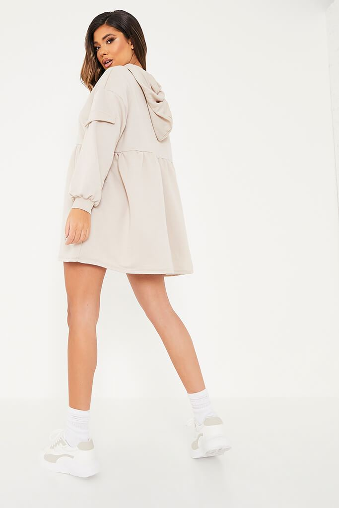 Stone Hooded Smock Sweater Dress view 4