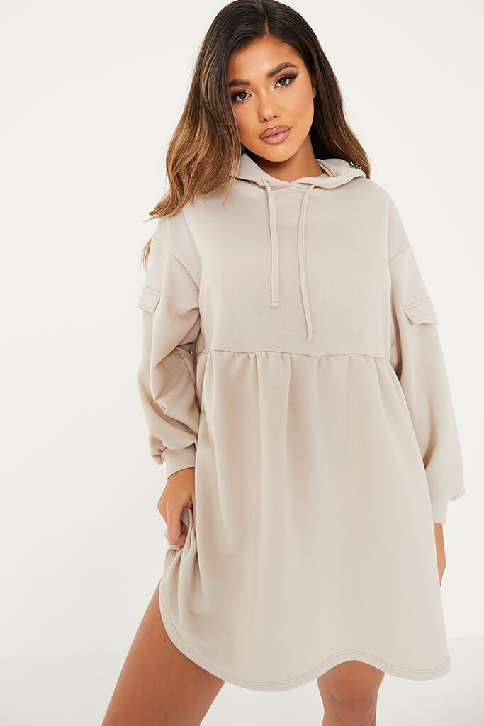 Stone Hooded Smock Sweater Dress view 5