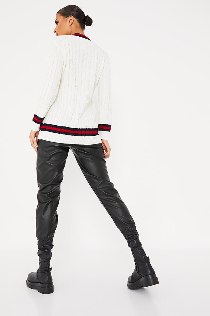 Ivory Collegiate Cable Knit Jumper view 4
